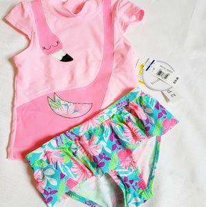 NEW 2-PC Flamingo Swimsuit